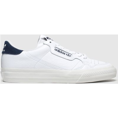 Adidas White & Navy Continental Vulc Trainers
