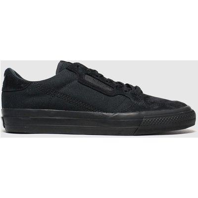 Adidas Black Continental Vulc Trainers