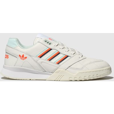 Adidas White & Orange A.r. Trainers