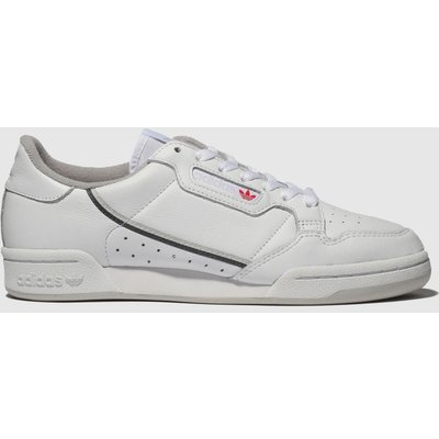 Adidas White & Grey Continental 80 Trainers