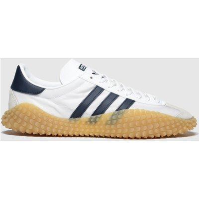 Adidas White & Navy Countryxkamanda Trainers