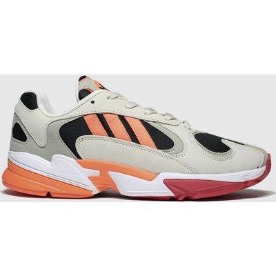 Adidas Beige & Orange Yung-1 Trainers