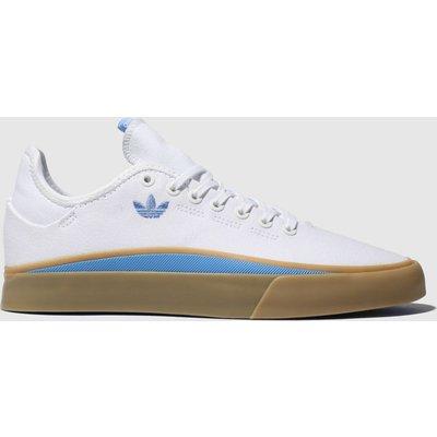 Adidas Skateboarding White & Pl Blue Sabalo Trainers