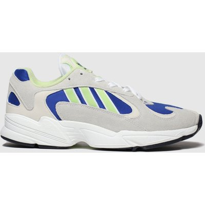 Adidas White & Blue Yung-1 Trainers