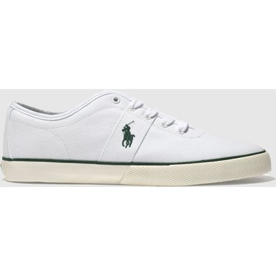 polo ralph lauren white   green halford trainers - 5054458358805