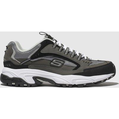 Skechers Grey Stamina Cutback Trainers
