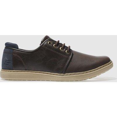 Skechers Dark Brown Lanson Vernes Shoes