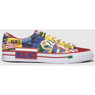Polo Ralph Lauren Red & Blue Sayer Trainers