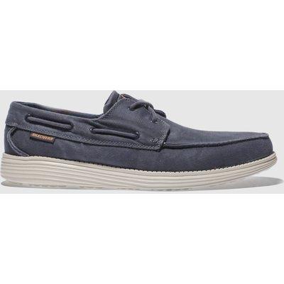 Skechers Navy Status Melec Shoes