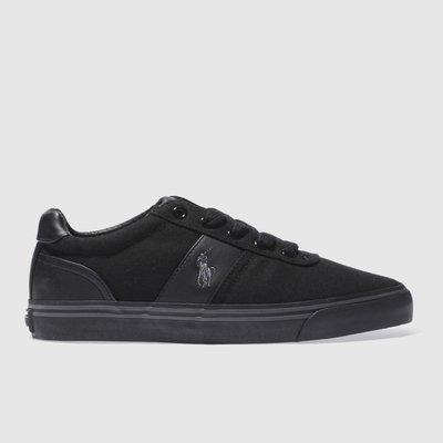 polo ralph lauren black hanford shoes - 5051571734431