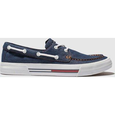 Tommy Hilfiger Navy & White Tj Denim Hybrid City Sneaker Trainers