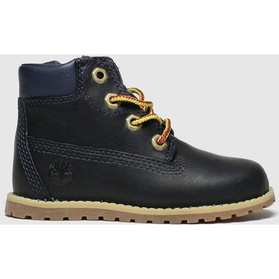 Timberland Navy Pokey Pine Zip Boots Toddler