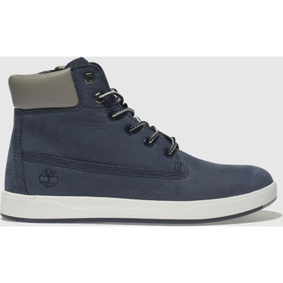 Timberland Navy Davis Square 6 Inch Boots Youth