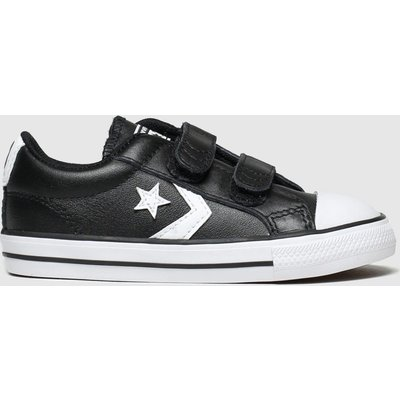 Converse Black & White Star Player 2v Mars Trainers Toddler