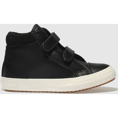 Converse Black All Star Hi 2v Pc Trainers Toddler