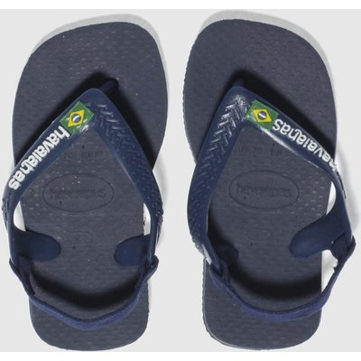 Havaianas Navy Brasil Logo Sandals Toddler