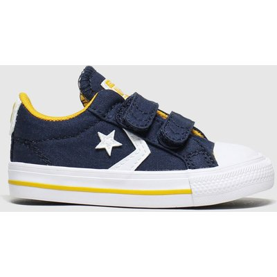 Converse Navy & White Star Player 2v Lo Trainers Toddler