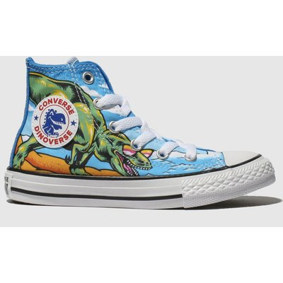 Converse Blue Chuck Taylor All Star Dino Hi Trainers Junior