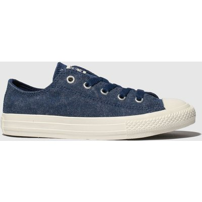 Converse Navy Chuck Taylor All Star Lo Trainers Junior
