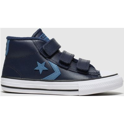 Converse Navy Star Player 3v Mid Trainers Junior
