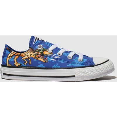 Converse Blue All Star Dino Lo Trainers Junior