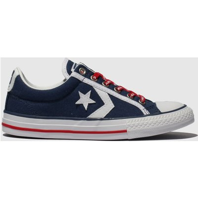 Converse Navy & White Star Player Ev Lo Trainers Junior