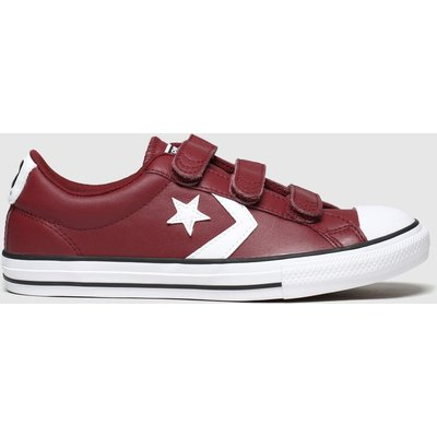 Converse Burgundy Star Player 3v Mars Trainers Junior