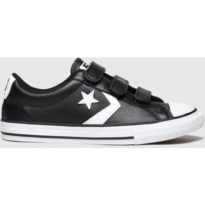 Converse Black & White Star Player 3v Mars Trainers Junior