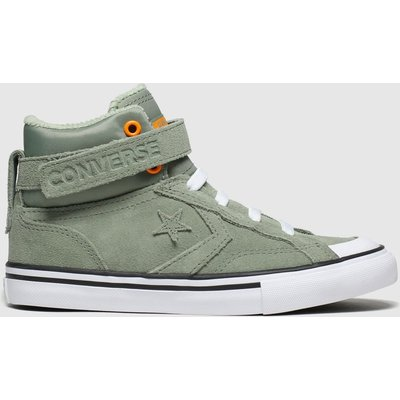 Converse Khaki Pro Blaze Strap Space Ride Hi Trainers Junior