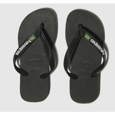 Havaianas Black Brasil Logo Sandals Junior