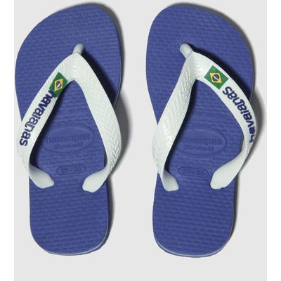 Havaianas Blue Brasil Logo Sandals Junior