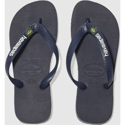 Havaianas Navy Brasil Logo Sandals Junior