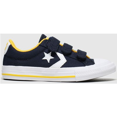 Converse Navy & White Star Player 3v Lo Trainers Junior