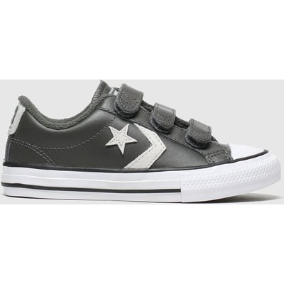 Converse Dark Grey Star Player 3v Lo Trainers Junior