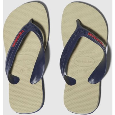 Havaianas Beige & Navy Max Sandals Junior