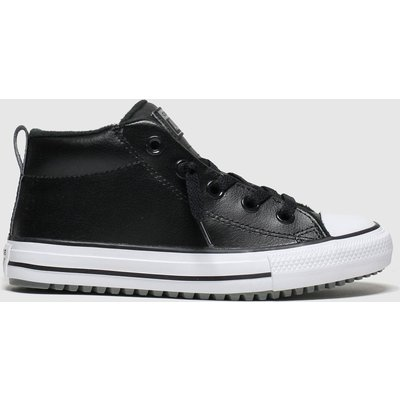Converse Black All Star Mid Street Trainers Youth