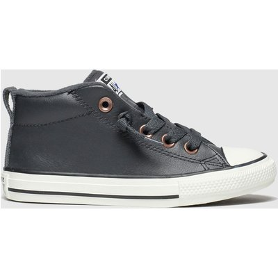 Converse Black All Star Street Red Rover Trainers Youth