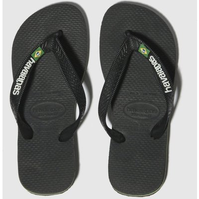 Havaianas Black Brasil Logo Trainers Youth