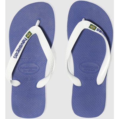 Havaianas Blue Brasil Logo Sandals Youth