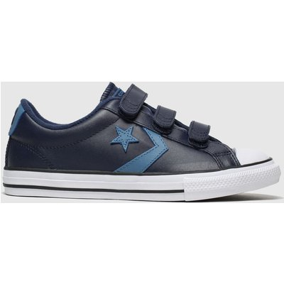 Converse Navy & Pl Blue Star Player 3v Lo Trainers Youth