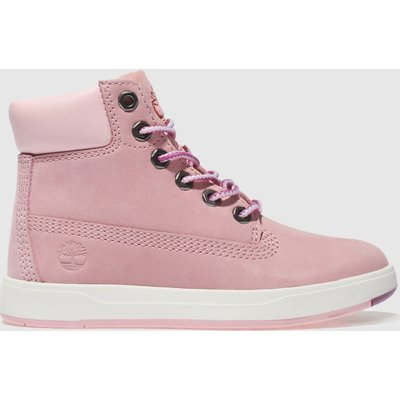 Timberland Pale Pink Davis Square 6 Inch Boots Toddler