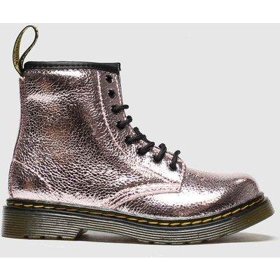 Dr Martens Pink 1460 Crinkle Metallic Boots Toddler