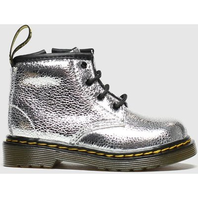 Dr Martens Silver 1460 Crinkle Metallic Boots Toddler