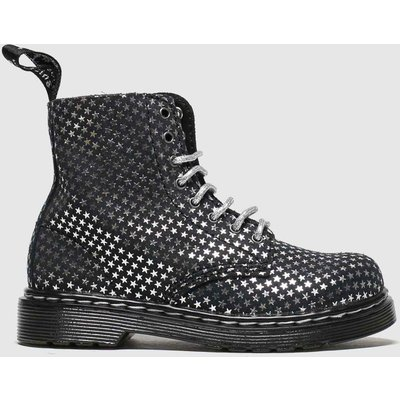 Dr Martens Black & Silver 1460 Pascal Silver Stars Boots Toddler