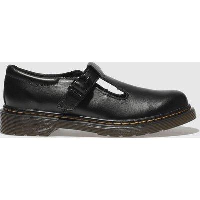 Dr Martens Black Dm Polley Shoes Junior