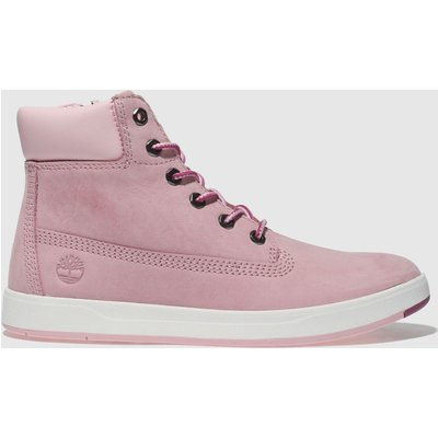 Timberland Pale Pink Davis Square 6inch Boots Junior