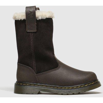 Dr Martens Dark Brown Juney Boots Junior