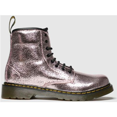 Dr Martens Pink 1460 Crinkle Metallic Boots Junior