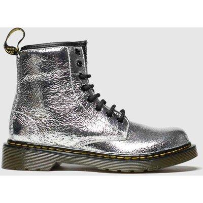 Dr Martens Silver 1460 Crinkle Metallic Boots Junior
