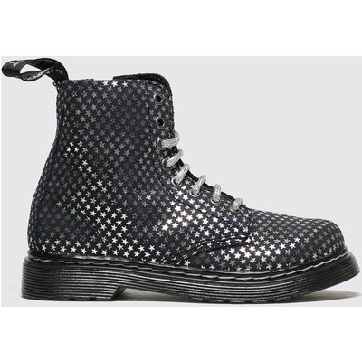 Dr Martens Black & Silver 1460 Pascal Silver Stars Boots Junior